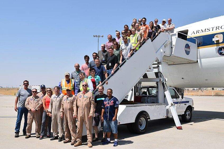 Part of the ATom-1 team after arrival in Palmdale on 23 August 2016.