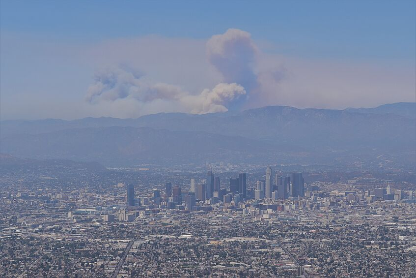 The fires near L.A. look like a volcanic eruption
