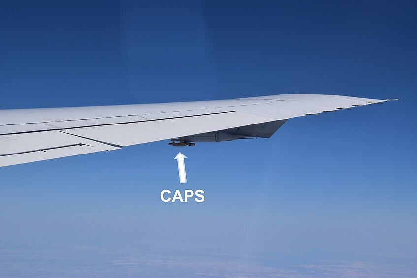CAPS seen from the back of the DC-8