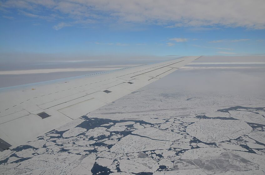 Floating ice sheets in the Beaufort Sea