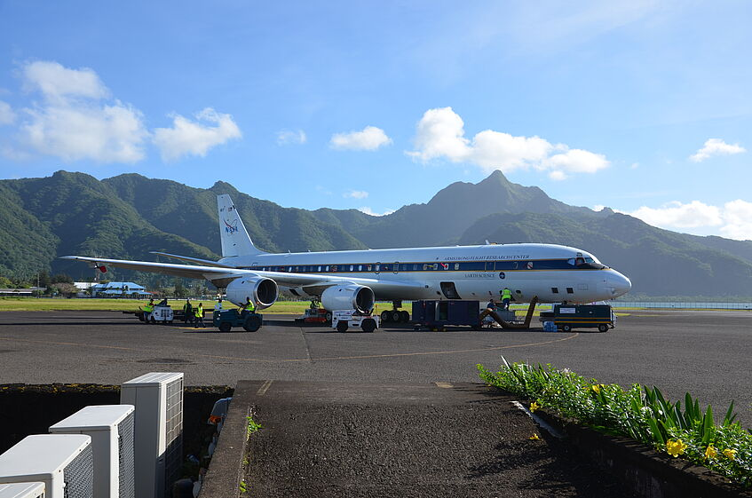 DC-8 parked at American Samoa