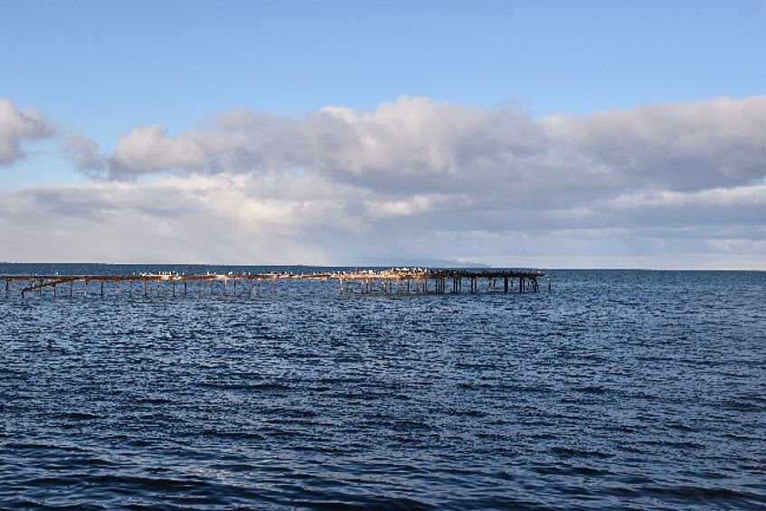 Punta Arenas, Chile, is located at the Strait of Magellan