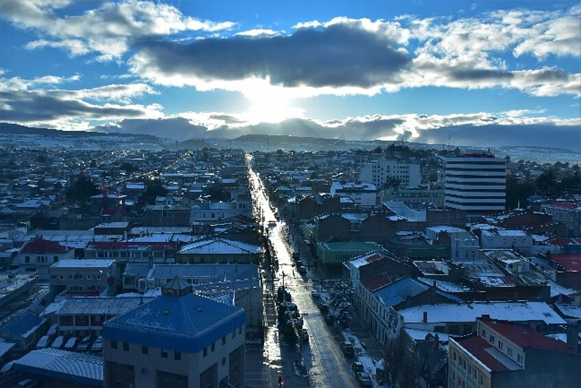View over the City of Punta Arenas, Chile